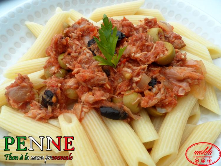 Penne_Thon à la sauce provencale