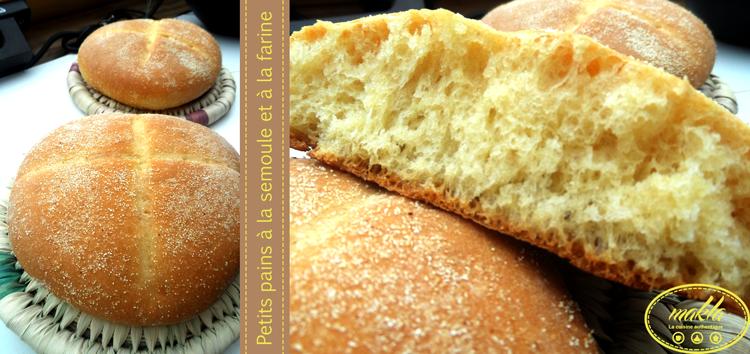 Petits pains à la semoule et à la farine 1
