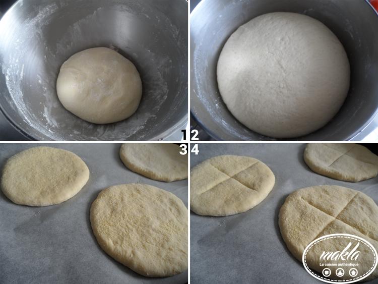 Petits pains à la semoule et à la farine 2