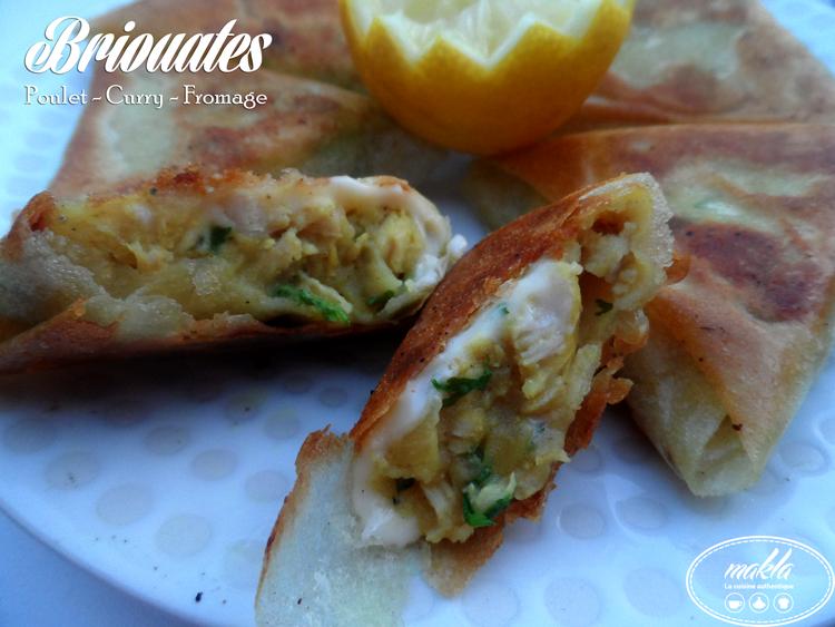 Briouates_Poulet, curry et fromage 1