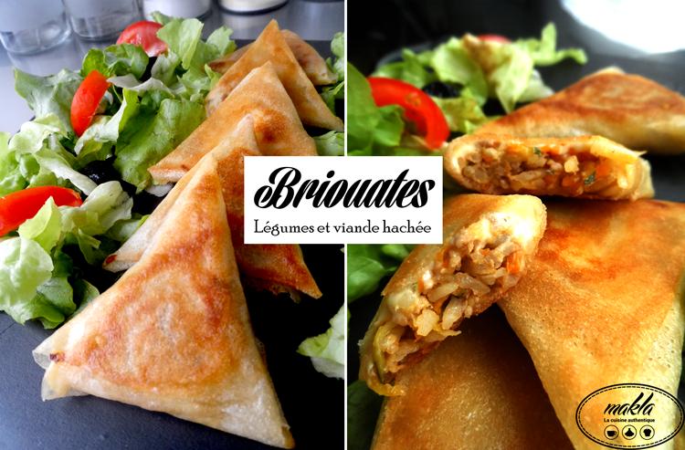 Briouates_Légumes et viande hachée