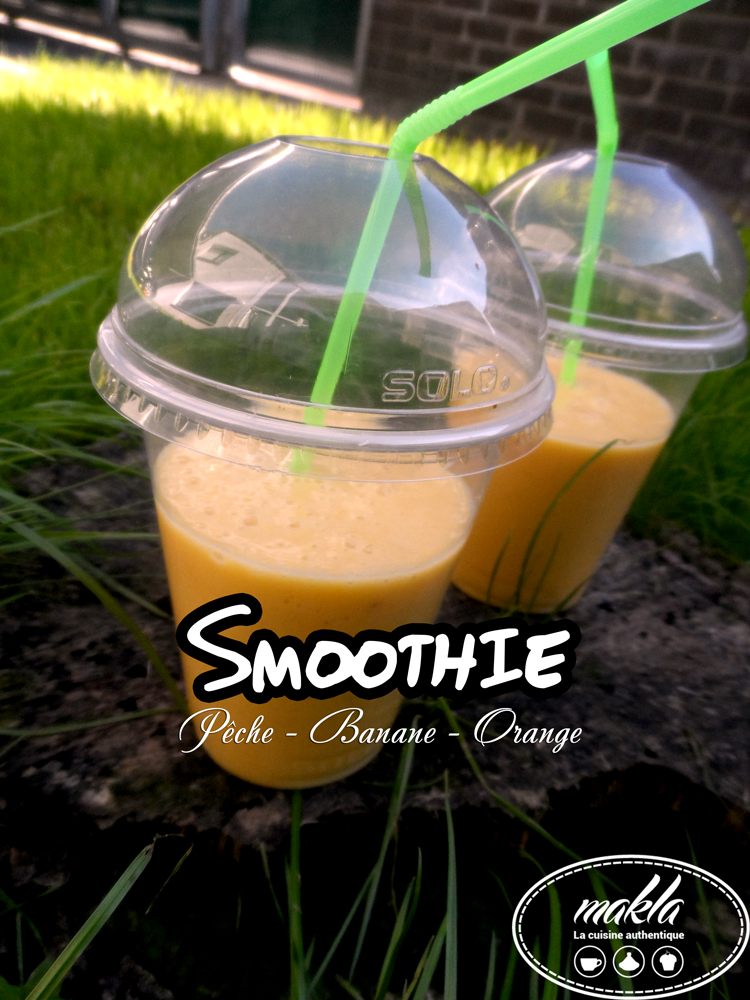 Smoothie_Pêche, banane et orange