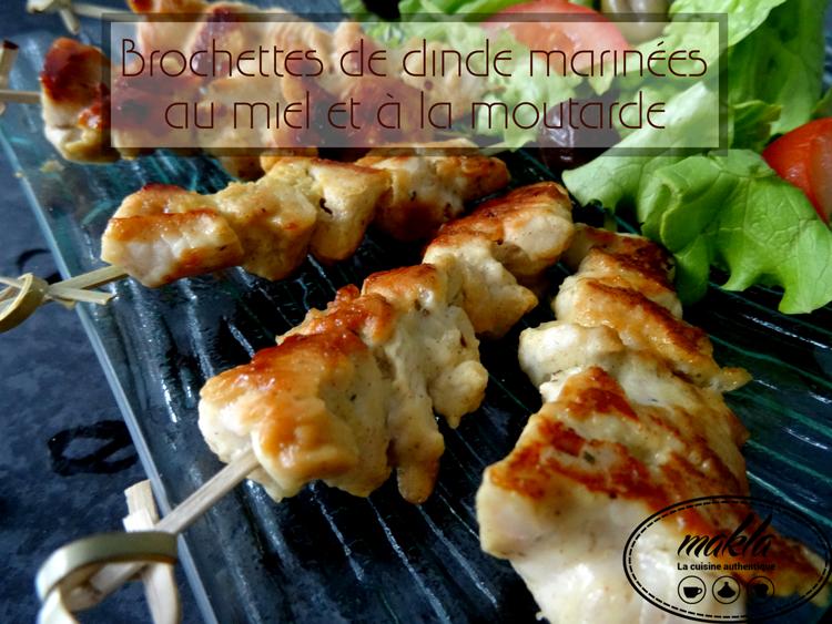 Brochettes-de-dinde-mariées-au-miel-et-à-la-moutarde
