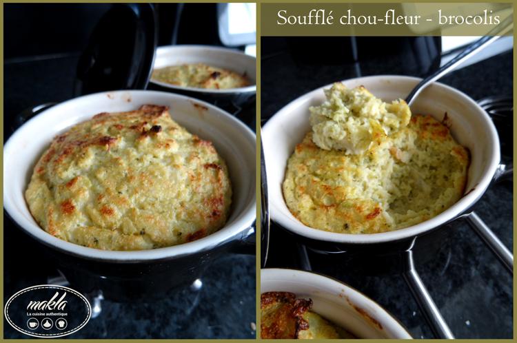 Soufflé chou-fleur brocolis